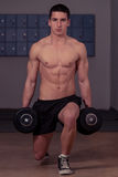 Dumbbell Lunges Royalty Free Stock Images