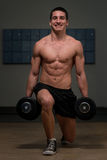 Dumbbell Lunges Stock Image