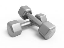 Dumbbell metal Royalty Free Stock Photography