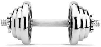 Dumbbell no fundo branco fotografia de stock royalty free