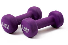 Dumbbell over white Royalty Free Stock Photos