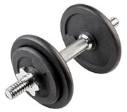 Dumbbell for physical exercise isolated Royalty Free Stock Photography