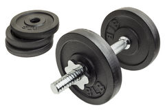 Dumbbell and plates Royalty Free Stock Photos