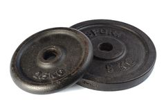 Dumbbell plates. Stock Photos