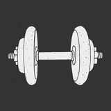 Dumbbell print Stock Images