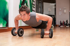 Dumbbell push up Stock Photos