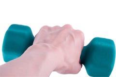 dumbbell ręka Zdjęcie Stock