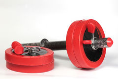 dumbbell red Royaltyfria Bilder