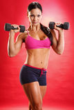 Dumbbell routine Stock Photo
