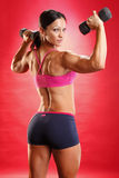 Dumbbell Routine Stock Photography