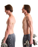Dumbbell Shrug Exercise Royalty Free Stock Photography