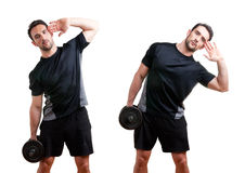 Dumbbell Side Bend Stock Photos