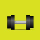 Dumbbell sport weights flat icon vector Stock Photos