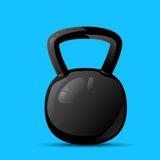 Dumbbell sport weights flat icon vector Royalty Free Stock Photo