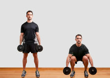 Dumbbell Squat Royalty Free Stock Photo
