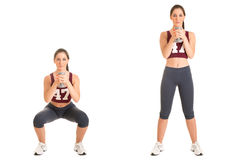 Dumbbell Squat Royalty Free Stock Images