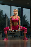 Dumbbell Squat Workout For Legs Royalty Free Stock Photography