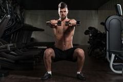 Dumbbell Squat Stock Photo