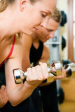 Dumbbell training Royalty Free Stock Image