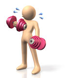 Dumbbell training Stock Photo