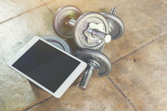 Dumbbell tutorial. Stock Photography