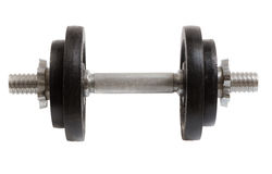 Dumbbell with two weights isolated as Cut Royalty Free Stock Images