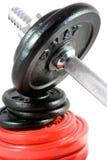 Dumbbell und Gewichte Lizenzfreies Stockbild