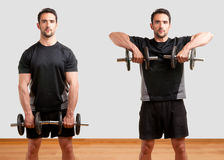 Dumbbell Upright Row Royalty Free Stock Photo