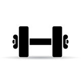 Dumbbell vector icon Stock Images