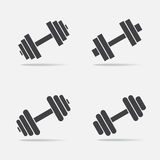 Dumbbell vector icon Royalty Free Stock Photography