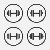 Dumbbell vector icon Stock Photography
