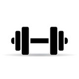 Dumbbell vector pictogram Royalty Free Stock Photography