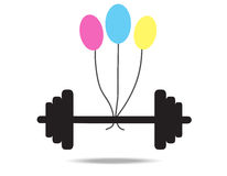 Dumbbell. The Dumbbell vector on white background Royalty Free Stock Photos