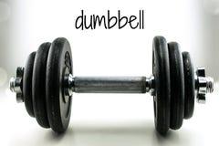 Dumbbell waga ciężka Zdjęcia Royalty Free