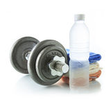 Dumbbell with water Stock Photography