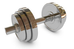 Dumbbell weight Stock Images