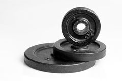 Dumbbell weight. Royalty Free Stock Photography