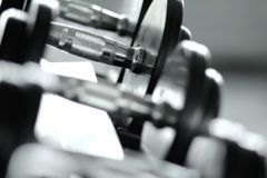 Dumbbell and Weights Stock Images
