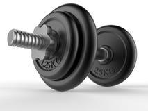 Dumbbell weights closeup Stock Photos