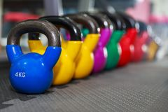 Dumbbell weights the gym Stock Photography