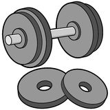 Dumbbell and Weights Royalty Free Stock Images
