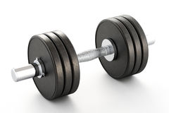Dumbbell on White Royalty Free Stock Image