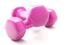 Dumbbell on White Royalty Free Stock Images