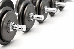 Dumbbell on White Stock Images