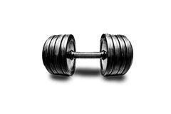 Dumbbell on a white background Stock Photo