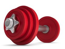 Dumbbell on white background.  3D illustration.  Stock Photos