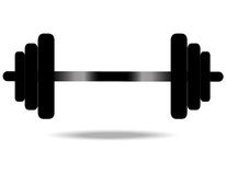 Dumbbell. On white background. vector Stock Photography