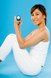 Dumbbell Workout Stock Images