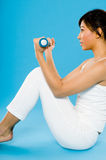 Dumbbell Workout Royalty Free Stock Image