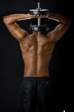 Dumbbell Workout Royalty Free Stock Photo